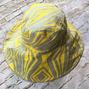 Echo Yellow & Gray Canvas Hat